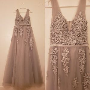 One-Time Used Silver Gown